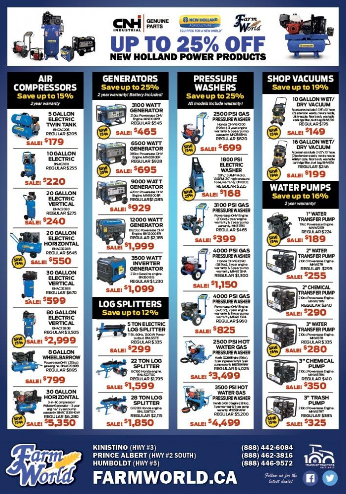 2017 New Holland Power Products On Sale!