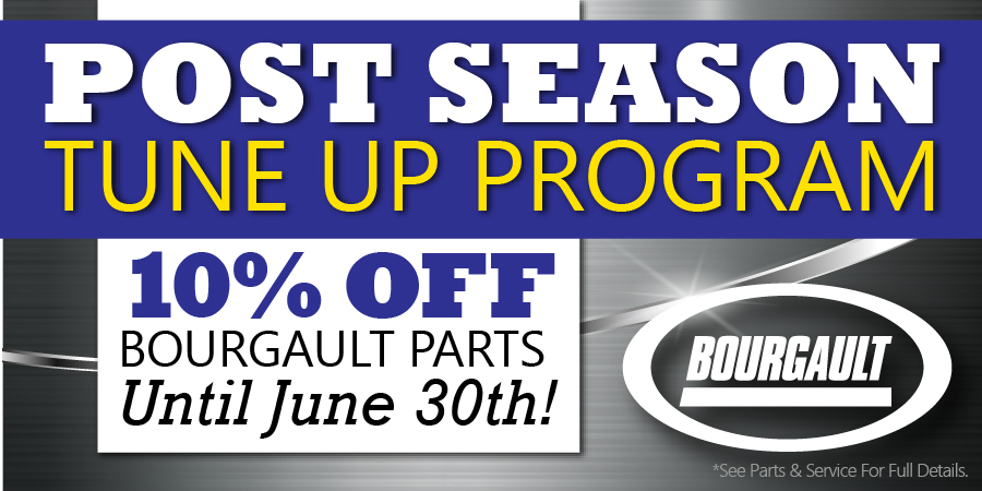 POST SEASON TUNE-UP - 10% Off Bourgault Parts  - Image 1