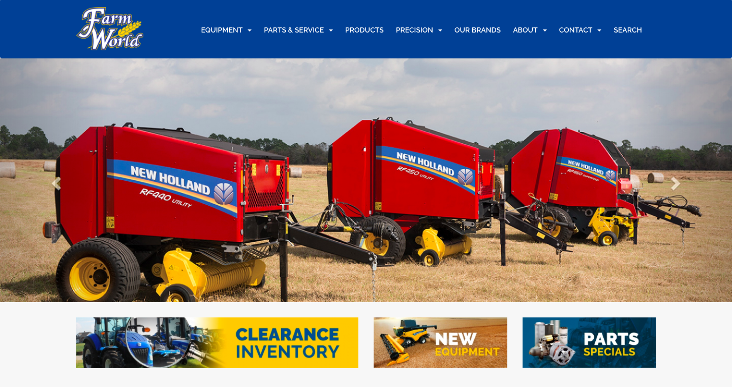 Farm World - New & Used Farm, Construction & Consumer Equipment